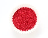 Red Nonpareils, Red Nonpareil Sprinkles, Red Sprinkles, Cupcake Sprinkles, Cookie Sprinkles, Valentine's Day Sprinkles (2 ounces)