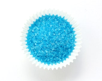 Blue Crystal Sugar for Decorating Cupcakes, Cookies and Cakes (4 ounces)