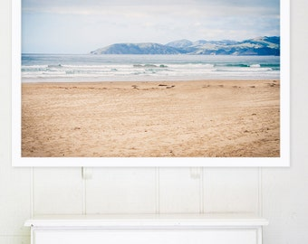 """Large Beach Photography // California Landscape Photography // Large Scale Art, Ocean Prints, Living Room Art - """"Out Here in California"""""""