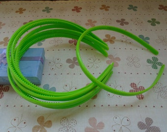 20pcs 9mm green plastic headband with teeth 37cm long