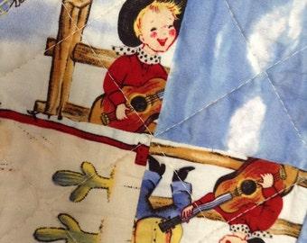 Baby Quilt, Boy, Crib, Cowboy