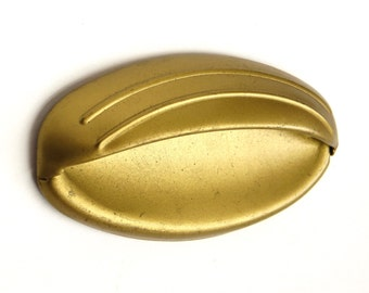 Retro Drawer Pull with Gold Finish