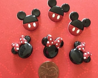 Mickey and Minnie Button Embellishment