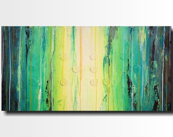 Original Large Abstract Braille painting - 18 X 36 Inches-by Artist JMJartstudio- LOVE -Wall art-wall decor - -oil custom