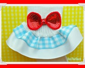 Wizard of Oz-DOROTHY-Inspired Double Ruffle Gingham Socks...Any Size-Costume, Dress Up...