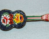 Vintage /  Guitar / Large / Micromosaic / Micro / Mosaic / Brooch / Collectible / old / jewelry / jewellery