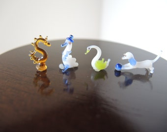 Dollhouse Miniature Glass Figurines, Art & Collectibles