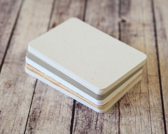 500pc Country RUSTIC Series Business Card Blanks