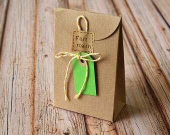 Plain Recycled KRAFT Brown taper top box blanks DIY wedding favour box
