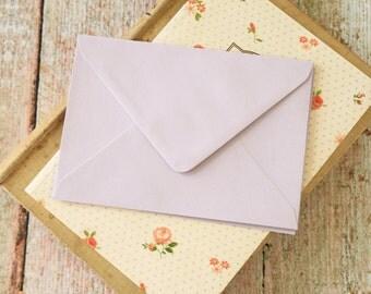 plain Lavender Purple C6 envelopes