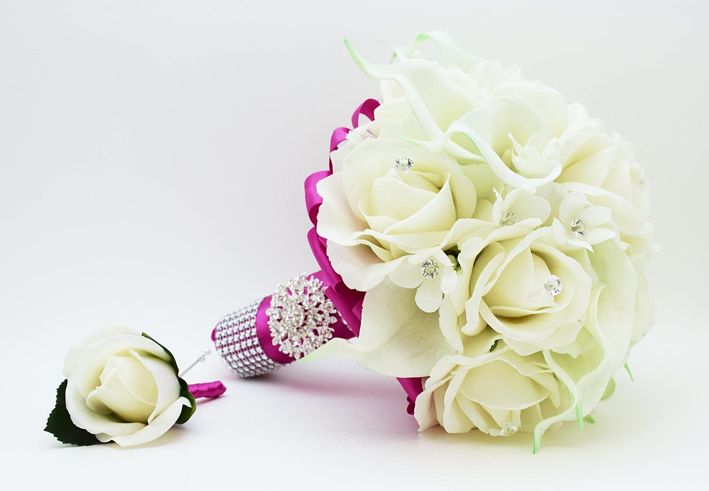 Reserved Wedding Flower Package Bridal Bouquet Stephanotis