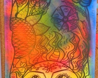 Summer, Hippie Art Original, Psychedelic Hippie Art