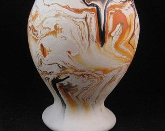 Nemadji Indian River Pottery Hand Painted Vase Made U.S.A.