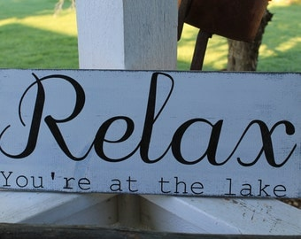 Relax your at the lake rustic lake house decor, great gift for dad's on father's day. Cabin decor lake house decor