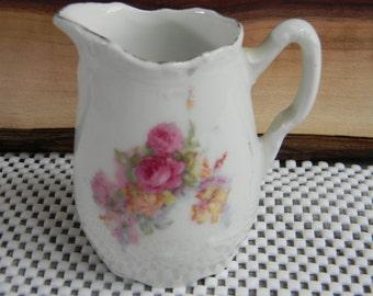 Floral Creamer Pitcher farmhouse cottage chic