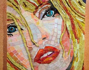 Gloria Mosaic Portrait Art