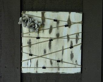 Shabby Chic Distressed Wood Photo Display Board