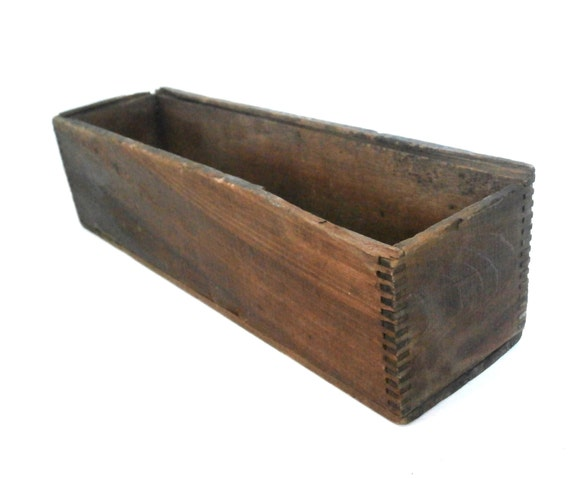 vintage wood box rustic mini crate long wooden decor box On long wooden crate
