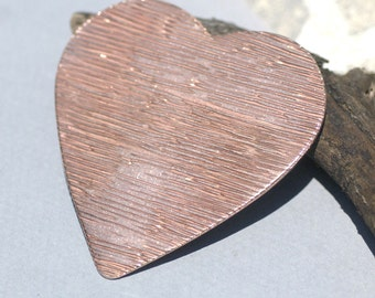 Heart Woodgrain Texture Blank Cutout for Metalworking Stamping Texturing Jewelry Making Blanks