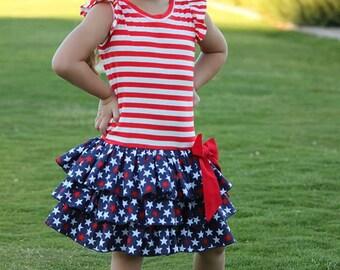 Drop Waist Diva Dress PDF Sewing Pattern, including sizes 12 months -12 years, Girls Knit Dress Pattern