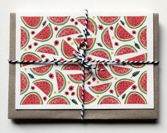 Card Set - Watermelon - Set of Five
