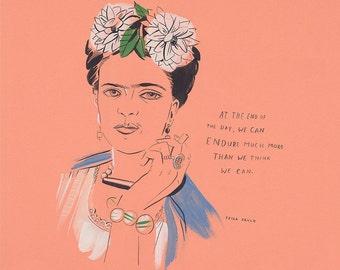 "Frida Kahlo Print, 12"" x 12"""
