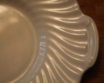 Minton White Ironstone Sandwich or Cookie Tray Platter