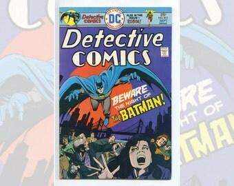 DC Batman's Detective Comics #451 Sep 1975