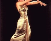 Marilyn Monroes Gold Lame Gown Sunburst Pleated Custom Couture Made To Measure