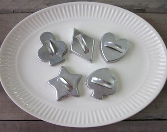 Cookie Cutters Card Suits Set of Five Club, Diamond, Heart, Spade and Star