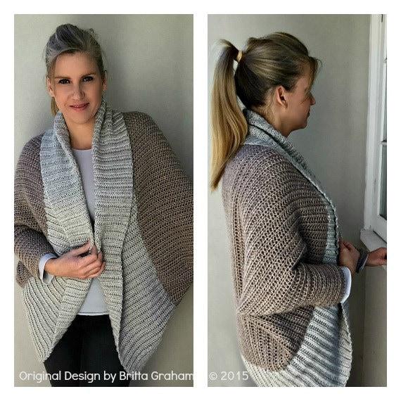 Crochet Shrug Pattern Oversized Sweater Cardigan Crochet