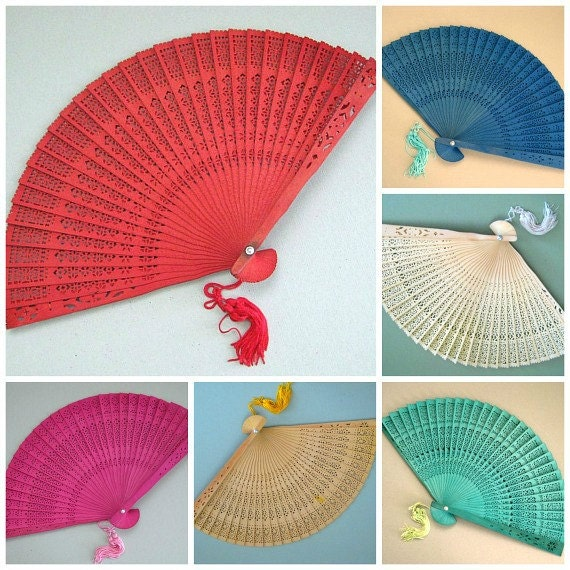 Decorative Wall Fans : Hand fan home decor wall color by