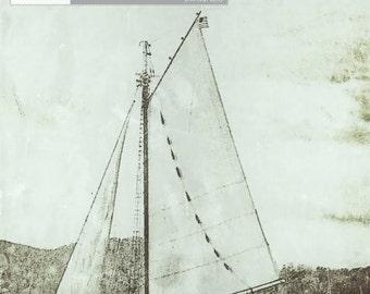 Sailboat Wall Decor, Nautical Home Decor, Nautical Prints, Nautical Wall Decor, Sailboat Mast, Sailboat Art, Sailboat Wall Art