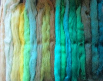 ALL THE GREENS 18 Shades Ashland Bay Merino Collection 4.5 Oz!