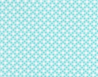 50% off*** Michael Miller CX6322-AQUA-D Dimple Dots in Aqua Fabric by the Yard