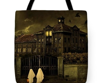 Trick or Treat Halloween House Tote Bag