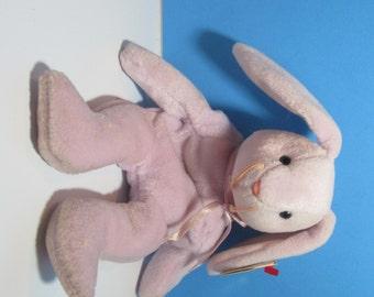 vintage ty beanie baby bunny rabbit, floppity, free shipping