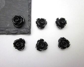 Black Flower Supply -- Wholesale Mini Flower Supplies -- Black Rose -- DIY Flower Pieces -- Mini Rose Flowers -- Black Flowers -- Black Cabs