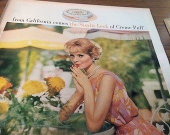 Circa 1962 Max Factor California girl ad.