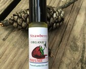 STRAWBERRY Perfume  Roll on  Organic  All Natural Strawberry Fragrance Fruity Scent 10ml  FREE SHIPPING usa