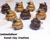 Kawaii Poo with Fly Charm