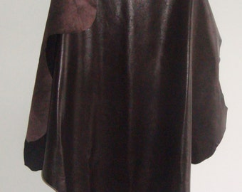 Brown Lamb Leather Soft Leather lambskin lamb skin genuine leather for man cave clothes, man cave decor