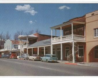 Street Scene Cars Weaverville California postcard