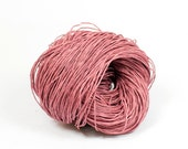 Paper Yarn - Paper Twine: Dusty Pink / Old Rose - 131 yards (120m) - Knit, crochet, textile arts, DIY supply