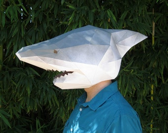 DIY Shark Mask - Paper Pattern Instant Download | Masquerade Mask | Halloween Mask | Paper Mask | DIY Mask