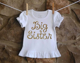 Big Sister Sparkle Shirt  Sibling Shirt