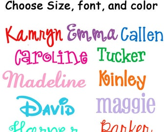 Personalized Name Decal Sticker  Name Label Perfect for Back to School! Binders, Computers, Notebooks, Pencil Boxes