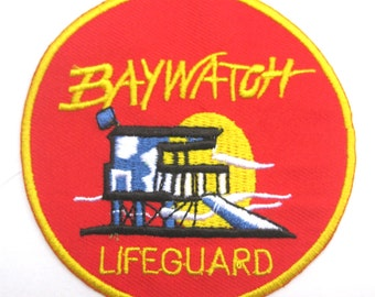 Baywatch Lifeguard TV Series Patch Badge 3""