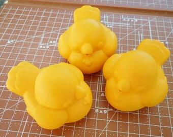 3 Vintage Yellow Bird Squeakie Toys Fisher Price 1983