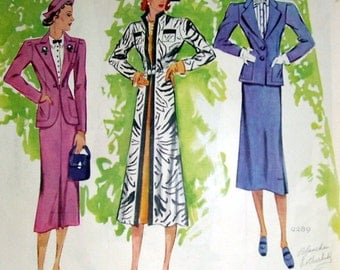1937 Ladies Fashion Ad, Original Magazine Print Page, Artist blanche Rothschild, Your Vacation, Ladies Suits, Color Print, Advertisement Ad